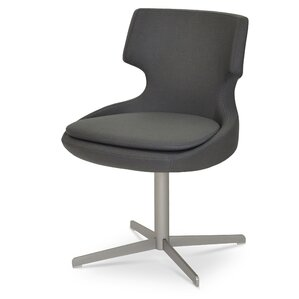 Patara Parsons Chair in Leatherette - Grey by sohoConcept