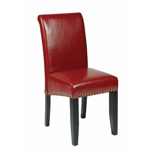 chesterhill genuine leather upholstered dining chair