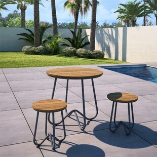 Bobbi Outdoor 3 Piece Bistro Set by Novog..