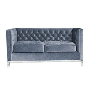 Jessa Chesterfield Loveseat by My Chic..