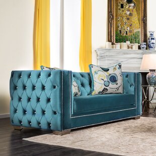 Shop Ama Tuxedo Chesterfield Loveseat by Willa Arlo Interiors