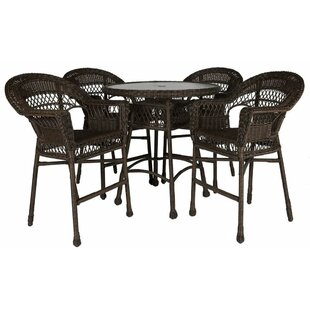 Bay Isle Home Ring 5 Piece Bar Height Dining Set
