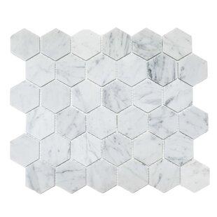 Honeycomb 2 x 2 Marble Mosaic Tile