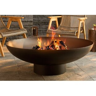 Nuria Steel Wood Burning Fire Pit By Deeco