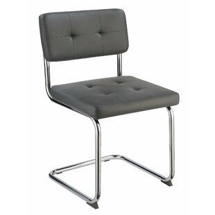 Orren Ellis Azocar Cantilever Base Upholstered Dining Chair (Set of 4)