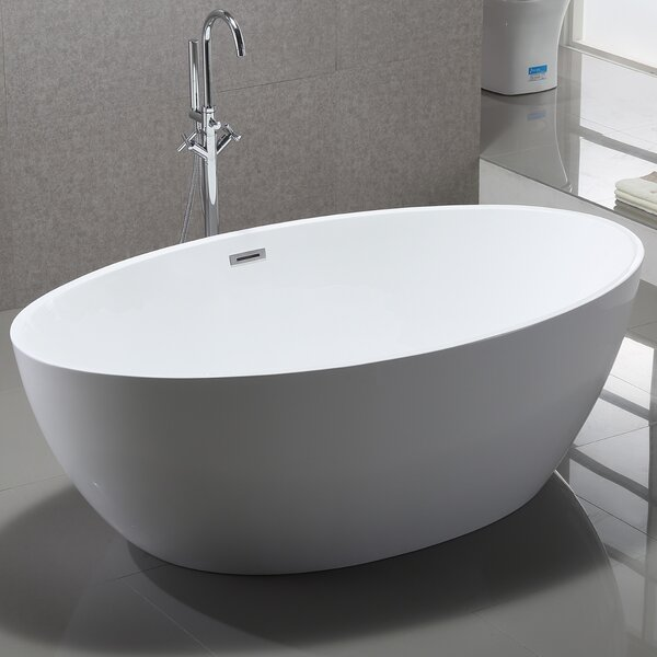 Vanity art 69 x 39 freestanding soaking bathtub for How long is a standard bathtub