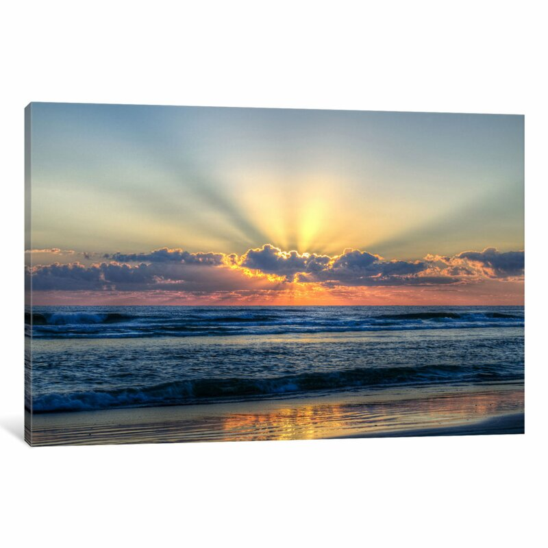 East Urban Home Radiant Dawn Photographic Print On Wrapped Canvas Reviews Wayfair