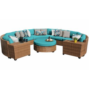 Waterbury 7 Piece Rattan Sectional Set with Cushions