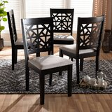 Calum Upholstered Cross Back Side Chair (Set of 4) by Red Barrel Studio®