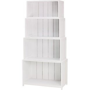 Beadboard Stacking Standard Bookcase
