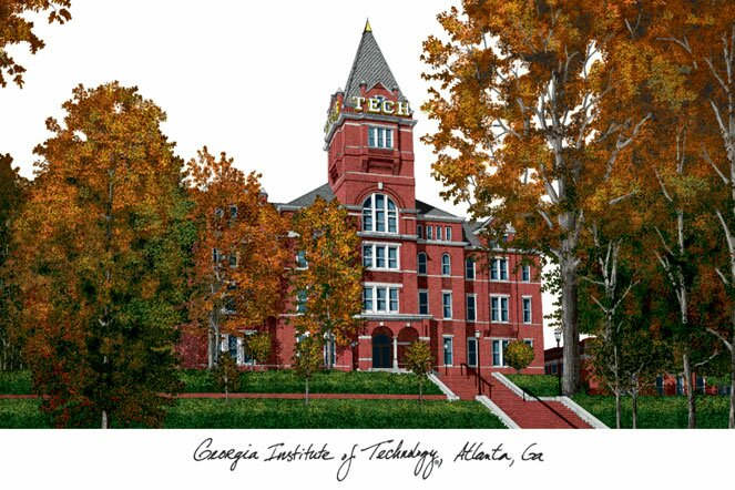 NCAA Campus Images Lithograph Photographic Print