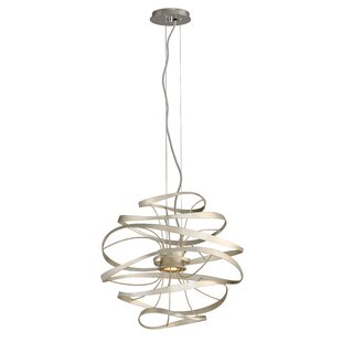 Calligraphy 2-Light Geometric Chandelier by Corbett Lighting