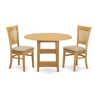 Tyshawn 3 Piece Drop Leaf Breakfast Nook Solid Wood Dining Set by Charlton Home Purchase
