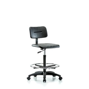 Price Check Industrial Mid-Back Drafting Chair by Perch Chairs & Stools Reviews (2019) & Buyer's Guide