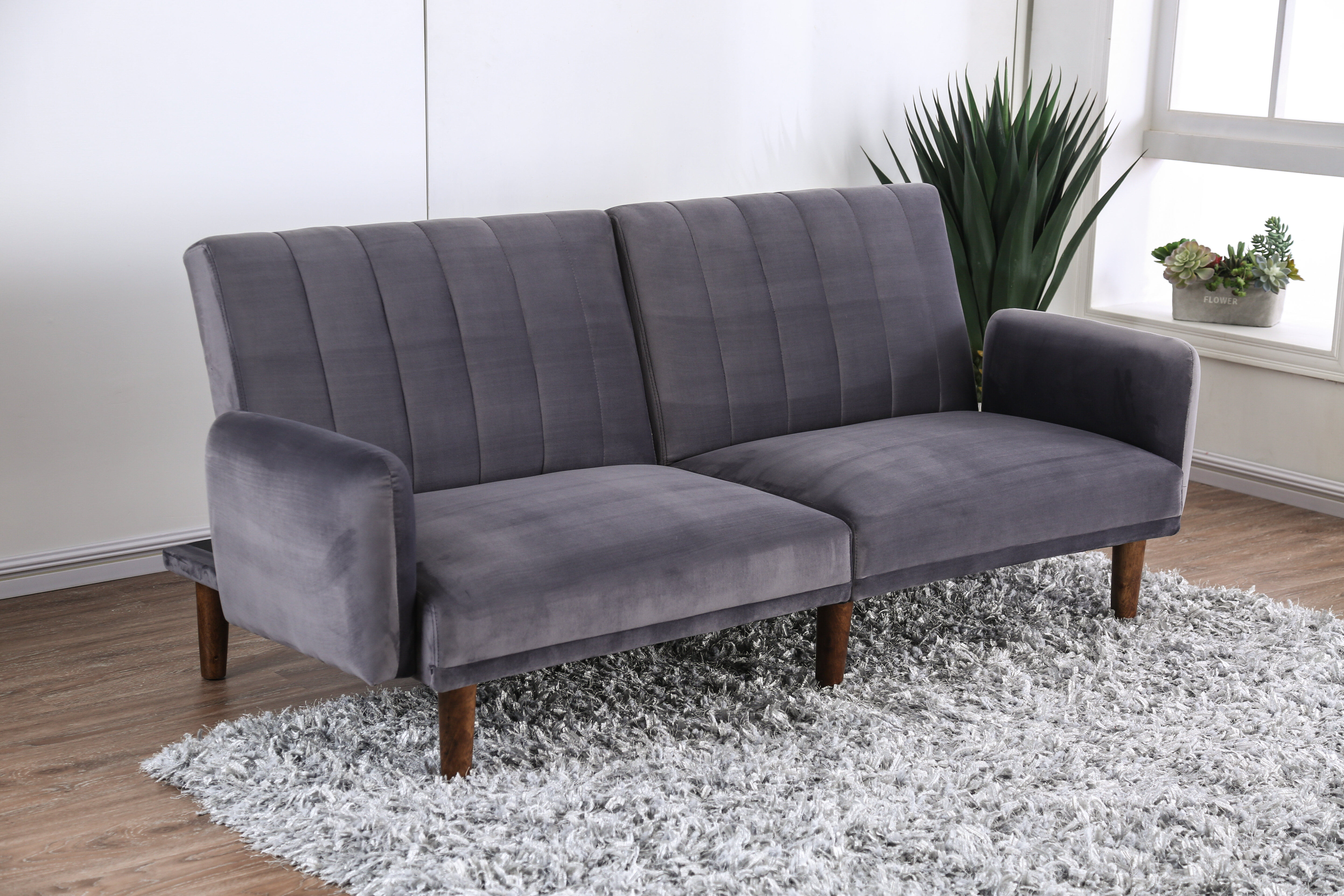 Fabulous Pate Twin Tufted Back Convertible Sofa Gmtry Best Dining Table And Chair Ideas Images Gmtryco