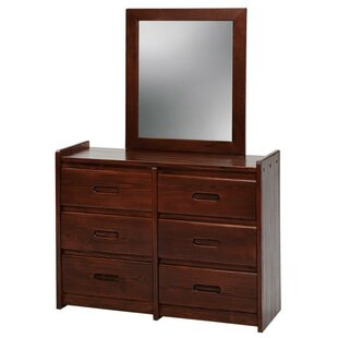 Compare 6 Drawer Double Dresser with Mirror by Chelsea Home Reviews (2019) & Buyer's Guide