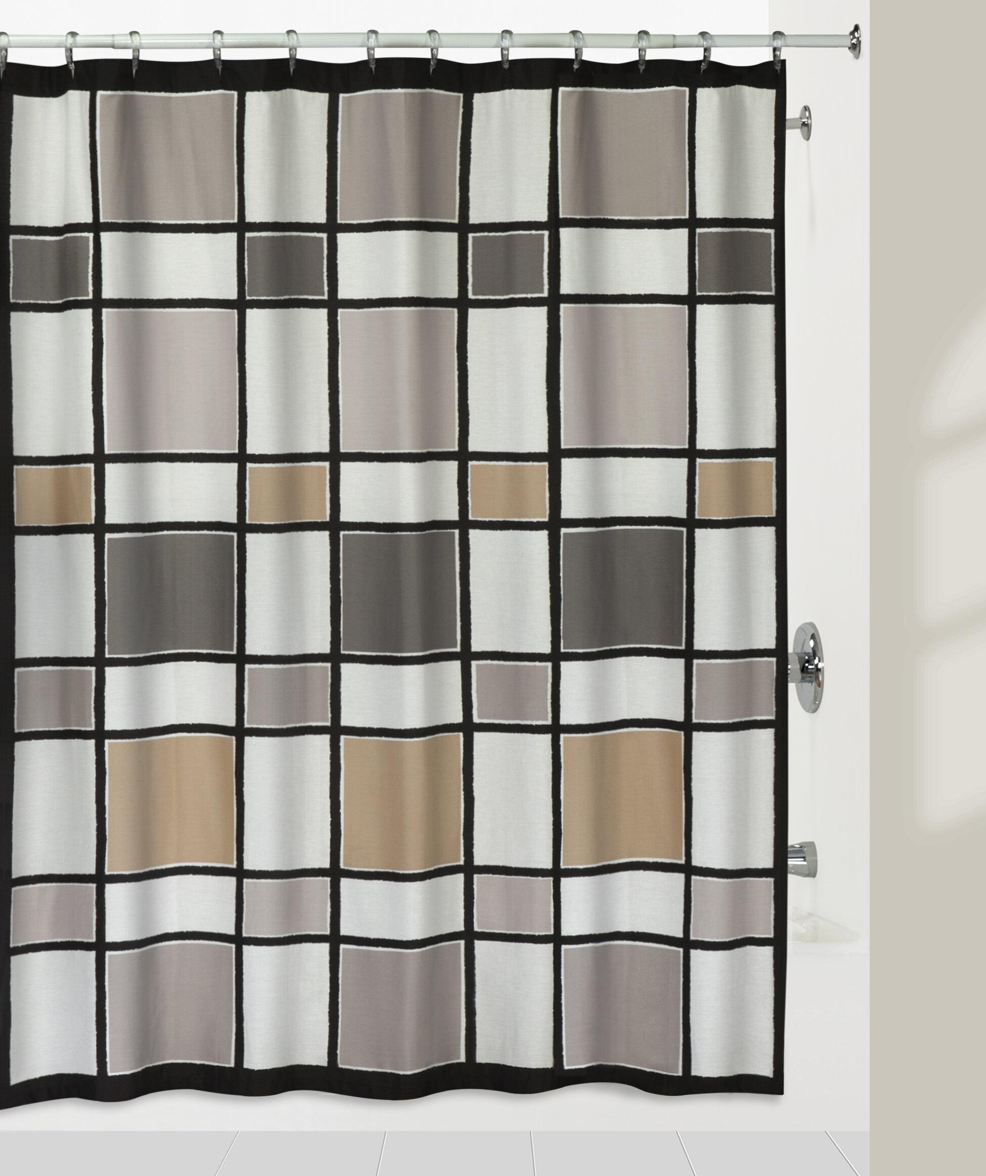 Creasy Color Blocks 100 Cotton Shower Curtain