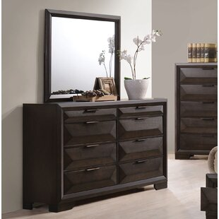 Lancelot 8 Drawer Double Dresser with Mirror
