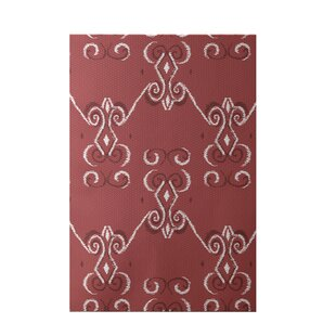 Price Check On the Line Print Red Indoor/Outdoor Area Rug By e By  design
