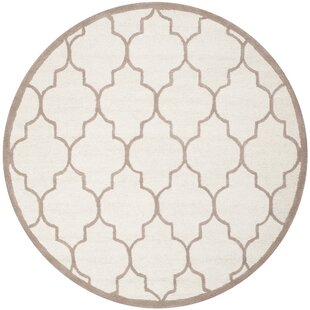Mahoney Hand-Tufted Wool Ivory/Beige Area Rug by Winston Porter