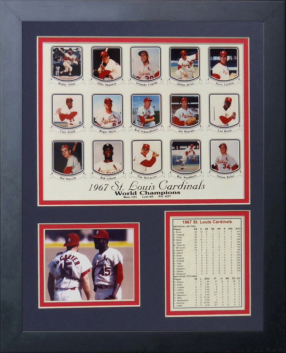 11 x 14-Inch Legends Never Die Bob Gibson Horizontal Framed Photo Collage