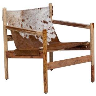 Loon Peak Curtis Cowhide Arm Chair