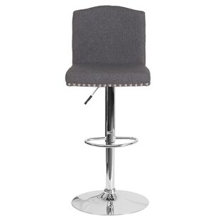 Prasad Adjustable Height Swivel Bar Stool Winston Porter