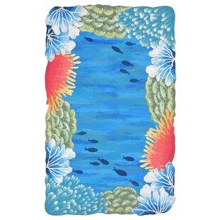 Visions IV Reef Border Handmade Blue Indoor/Outdoor Area Rug Best Deals