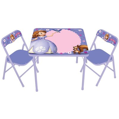 Kids Only Sofia The First Erasable Kids Square Activity Table Set ...