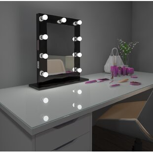 Comparison Tarek Vanity Makeup/Shaving Mirror By Everly Quinn