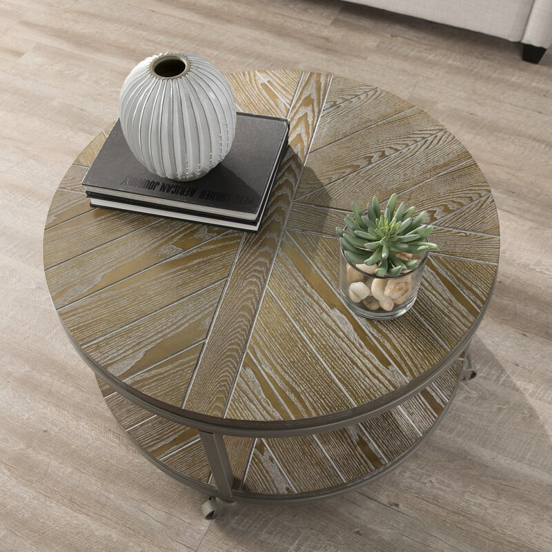 Drossett Wheel Coffee Table With Storage Reviews Birch Lane