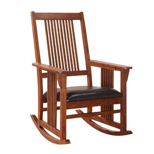 Piper Wooden Rocking Chair by Millwood Pines