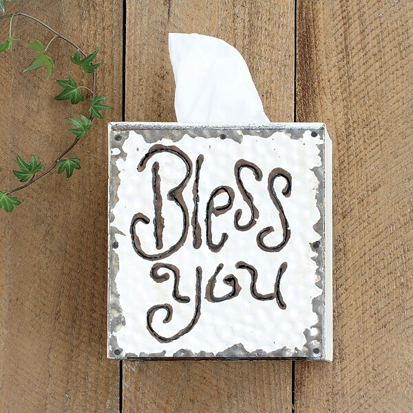 August Grove Farfan Bless You Tissue Box Cover & Reviews by August Grove