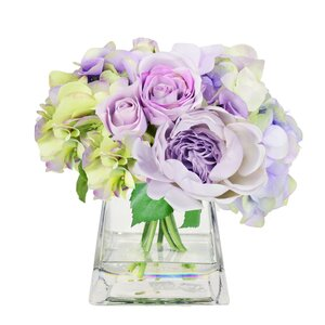 Lavender Peony and Rose Bouquet