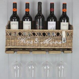 Review Kubu 5 Bottle Wall Mounted Wine Cabinet