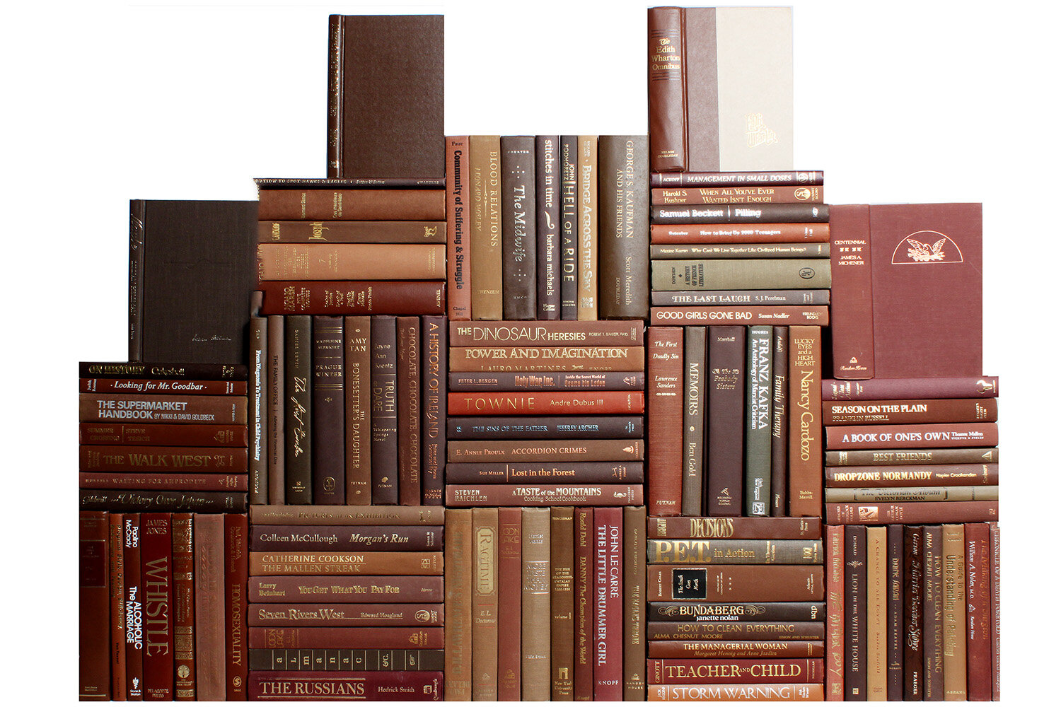 Booth Williams 100 Piece By Color Modern Chocolate Book Wall Authentic Decorative Book Set Wayfair