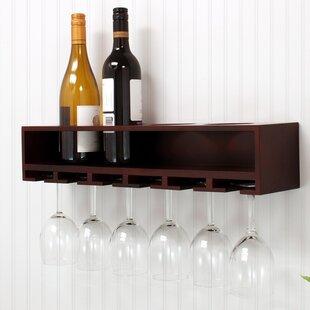 nexxt Design Claret 4 Bottle Wall Mounted Wine Rack