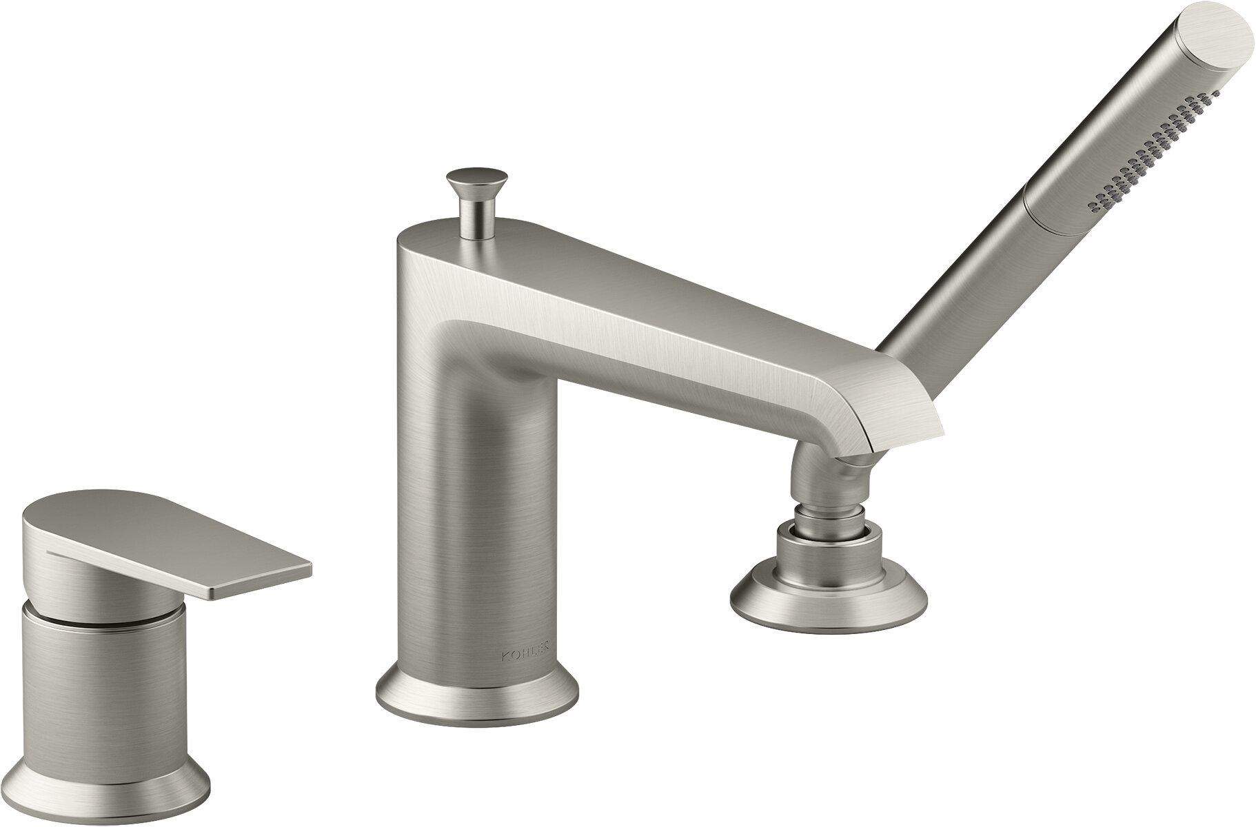 Kohler Hint Single Handle Deck Mounted Roman Tub Faucet Trim With Diverter Reviews Wayfair
