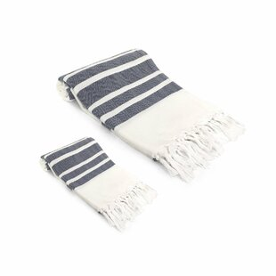 Ruthar 2 Piece Turkish Cotton Towel Set