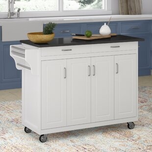 Stroman Kitchen Island with Granite Top August Grove