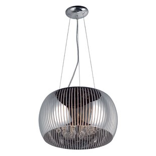 Orren Ellis Deleo Modern 5-Light Drum Pendant