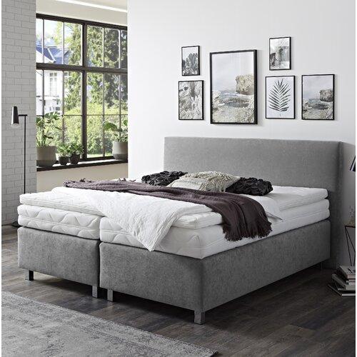 Boxspringbett Garlow   Schlafzimmer > Betten > Boxspringbetten   Grau   Stoff - Holzwerkstoff - Polyester   ModernMoments