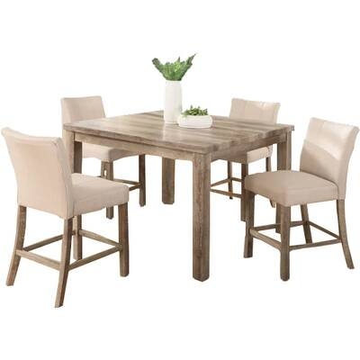 Shaunda Casual 5 Piece Counter Height Dining Set