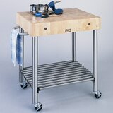 Cucina Americana Kitchen Cart with Butcher Block Top by John Boos
