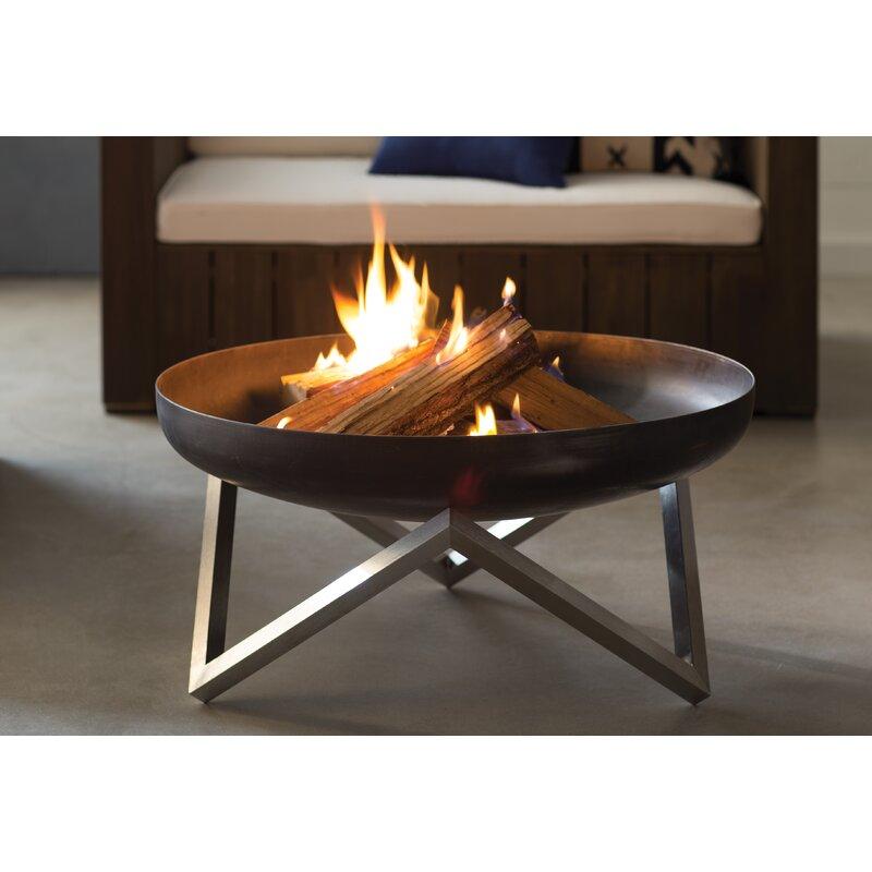 Faisal Stainless Steel Wood Burning Fire Pit Reviews Allmodern