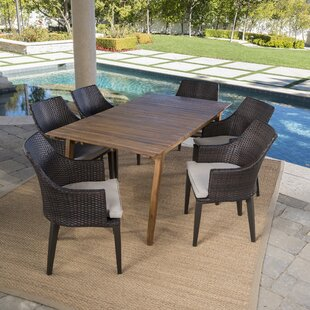 Gerber Outdoor 7 Piece Dining Set with Cushions