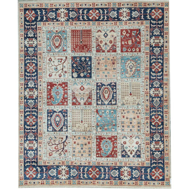 Bokara Rug Co Inc Aryana Oriental Hand Knotted Wool Ivory Blue Area Rug Wayfair Ca