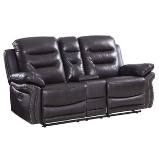 Ullery Upholstered Living Room Reclining Loveseat by Winston Porter