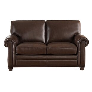 Westland and Birch Coventry Top Grain Leather Loveseat