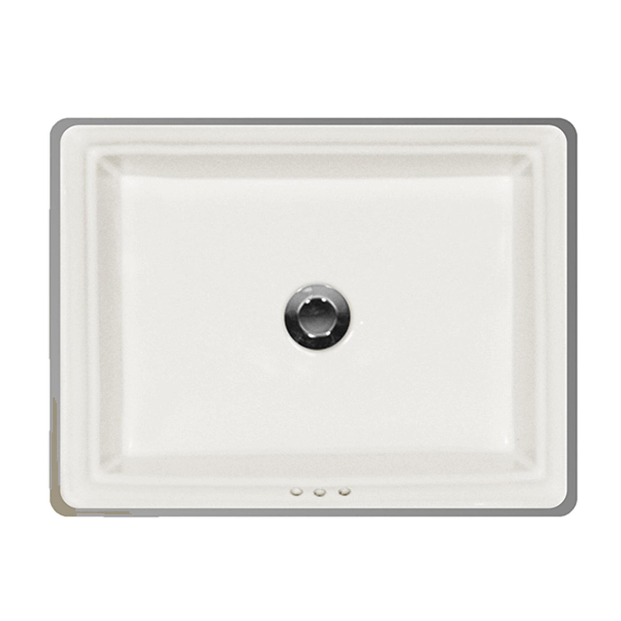 St Thomas Creations By Icera Presley Vitreous China Rectangular Undermount Bathroom Sink With Overflow Wayfair